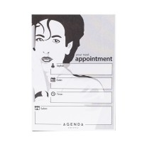 Agenda Appointment Cards - Stylist - Black/White