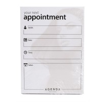 Agenda Appointment Cards - Stylist - Beige/White