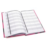 Agenda 3 Assistant Appointment Book - Pink/Black Zebra Print