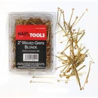 "Hair Tools 2"" Waved Grips Blonde (Box of 500)"
