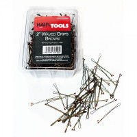 "Hair Tools 2"" Waved Grips Brown (Box of 500)"